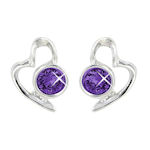 Birthstone Heart Stud Earrings from Lila Jewellery
