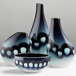 Poole Pottery - Blue Orchid