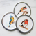 Azeti Collection Meg Hawkins 6 Garden Bird Coasters