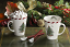 Spode Christmas Tree - Peppermint Mugs with Spoons - Set of 2