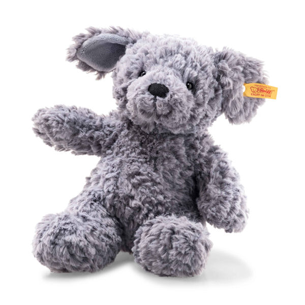 Steiff Soft Cuddly Friends Toni Dog Blue Grey 28cm