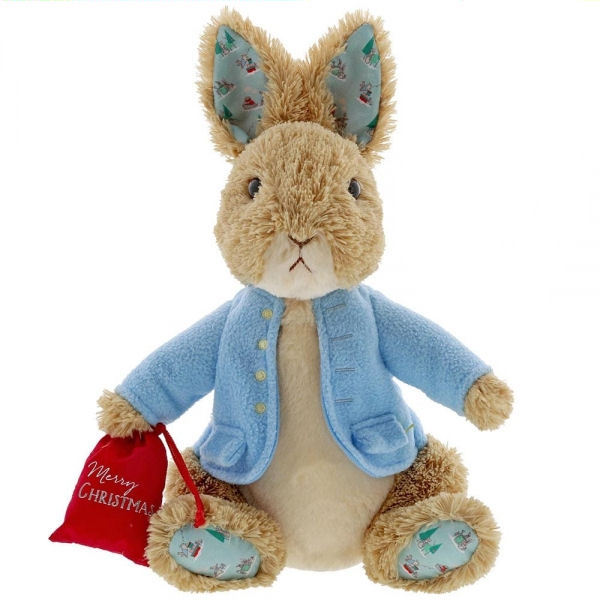 Peter Rabbit Christmas Soft Toy by Gund - Large
