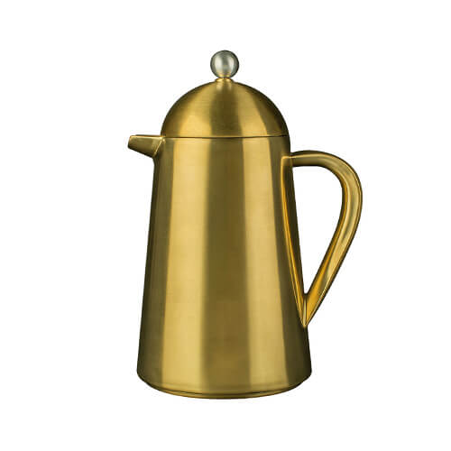 La Cafetiere Thermique 3 Cup Double Walled Cafetiere Brushed Gold