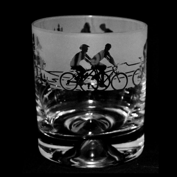 Animo Glass - Cycling Bike Scene Whisky Tumbler