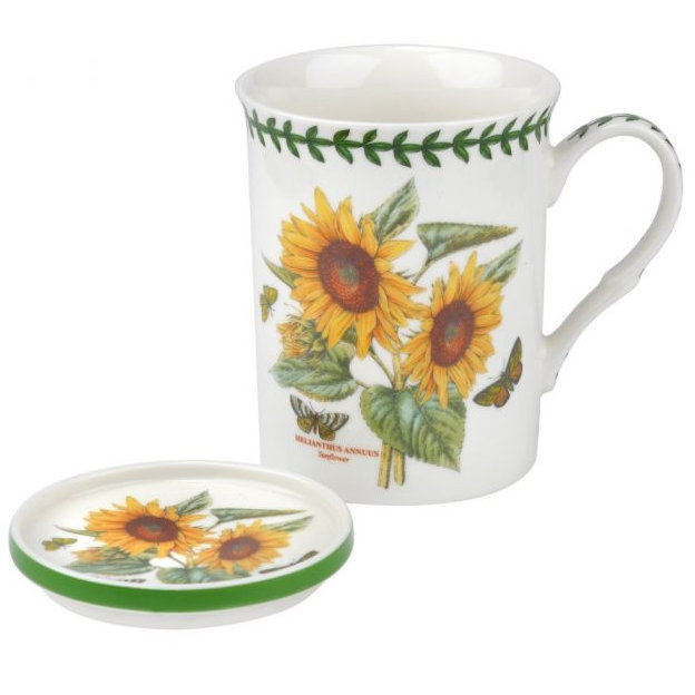 Portmeirion Botanic Garden Mug & Coaster Set - Sunflower