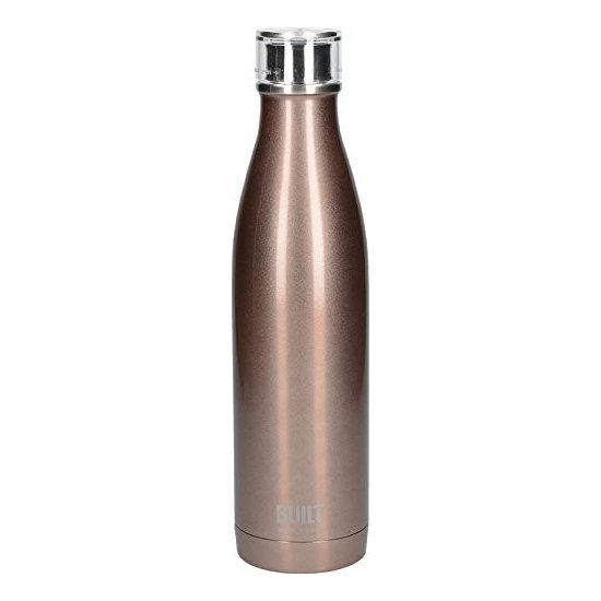 Built Double Walled Stainless Steel Water Bottle 25oz 740ml Rose Gold