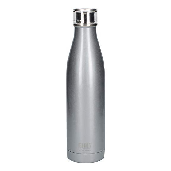 Built Double Walled Stainless Steel Water Bottle 25oz 740ml Silver