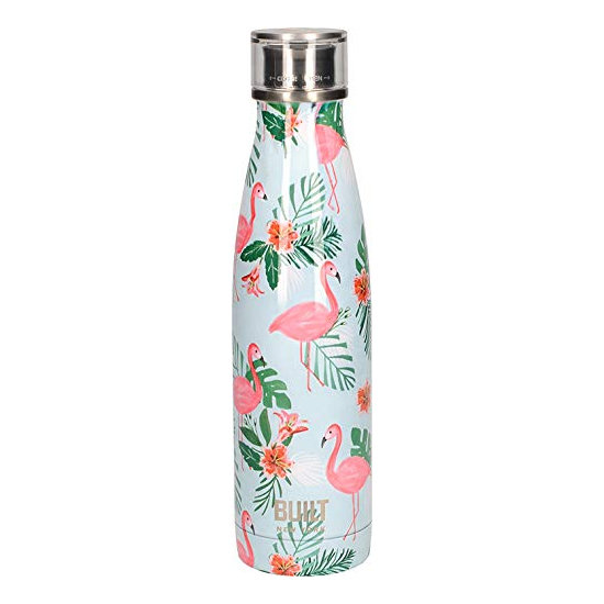 Built Double Walled Stainless Steel Water Bottle 17oz 500ml Flamingo