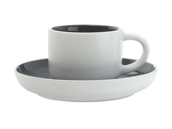 Maxwell & Williams Tint Demi Cup & Saucer 100ml Charcoal