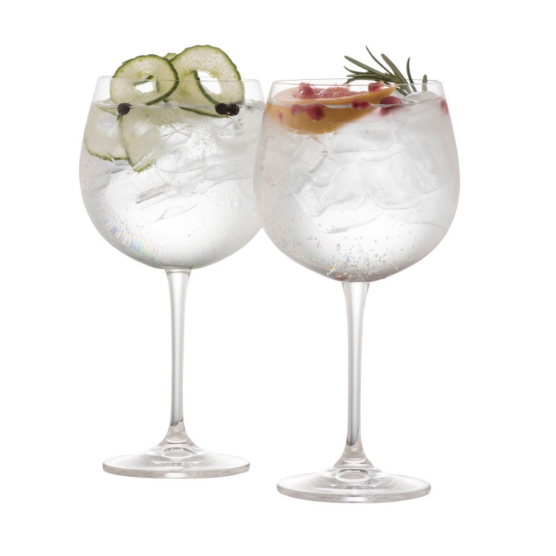 Galway Crystal Elegance Gin & Tonic Glasses Set of 2
