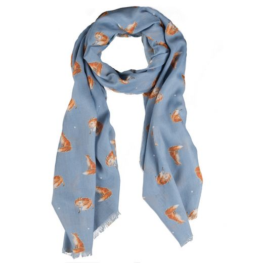 Wrendale Designs Scarf - The Artful Poacher Fox Scarf