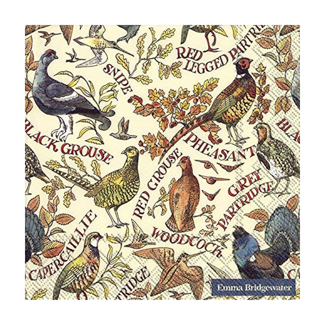 Emma Bridgewater - Napkins - Luncheon - Game Birds