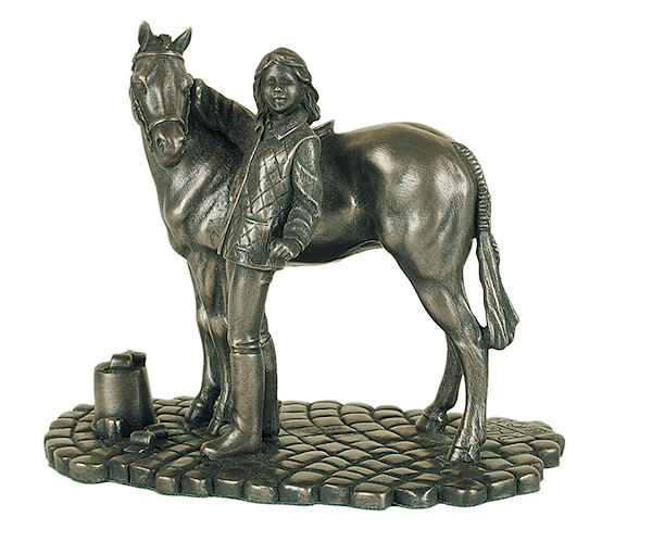 Genesis Fine Arts - Girl & Pony Bronze