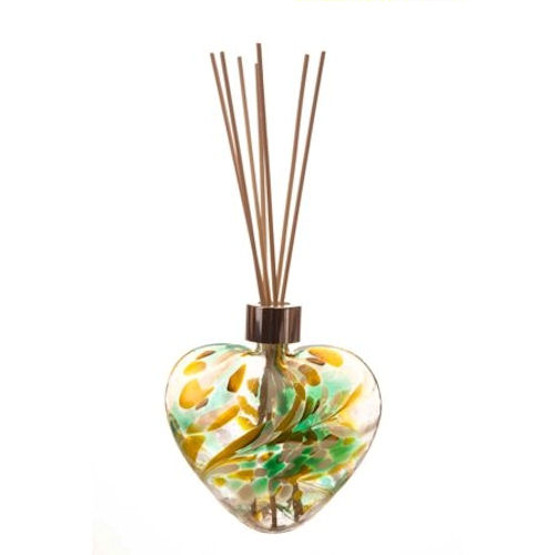 Amelia Friendship Heart Reed Diffuser in Green White & Yellow (with Reeds)