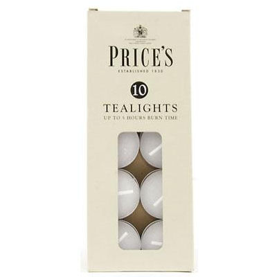 Prices White Tealight Pack of 10