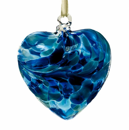 Amelia Friendship Birthstone Heart - Medium - Turquoise - December