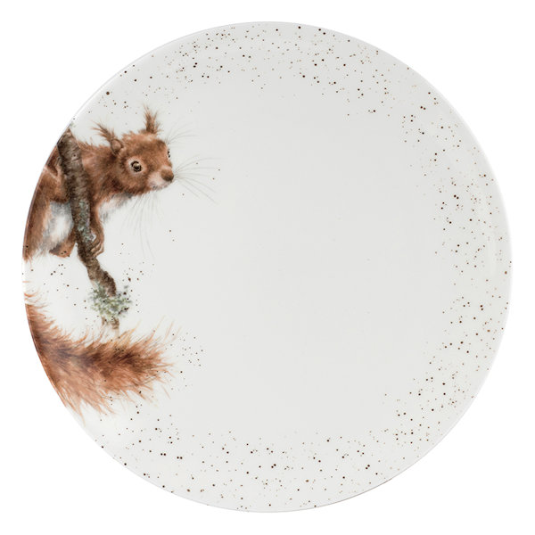 Royal Worcester Wrendale Designs - Coupe Dinner Plate 26.7cm / 10.5 inch - Squirrel