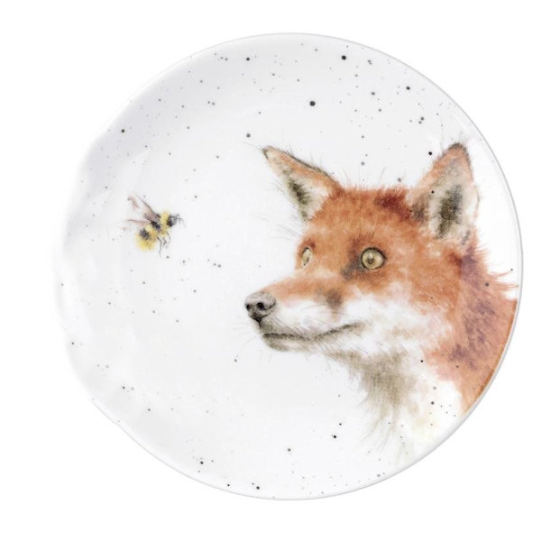 Royal Worcester Wrendale Designs - Coupe Plate 16.5cm 6.5in - Fox