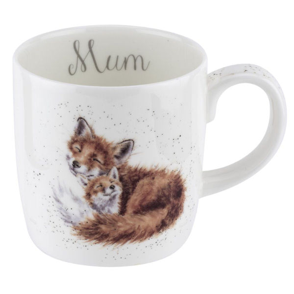 Royal Worcester Wrendale Designs - Mug Large - Mum - Fox & Cub Gift Boxed