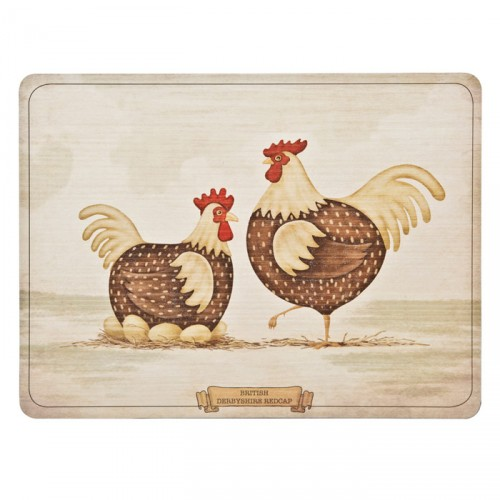 Denby Derbyshire Redcap Chicken Placemats Set of 6