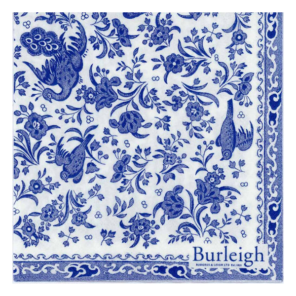 Burleigh - Napkins - Luncheon - Blue Regal Peacock