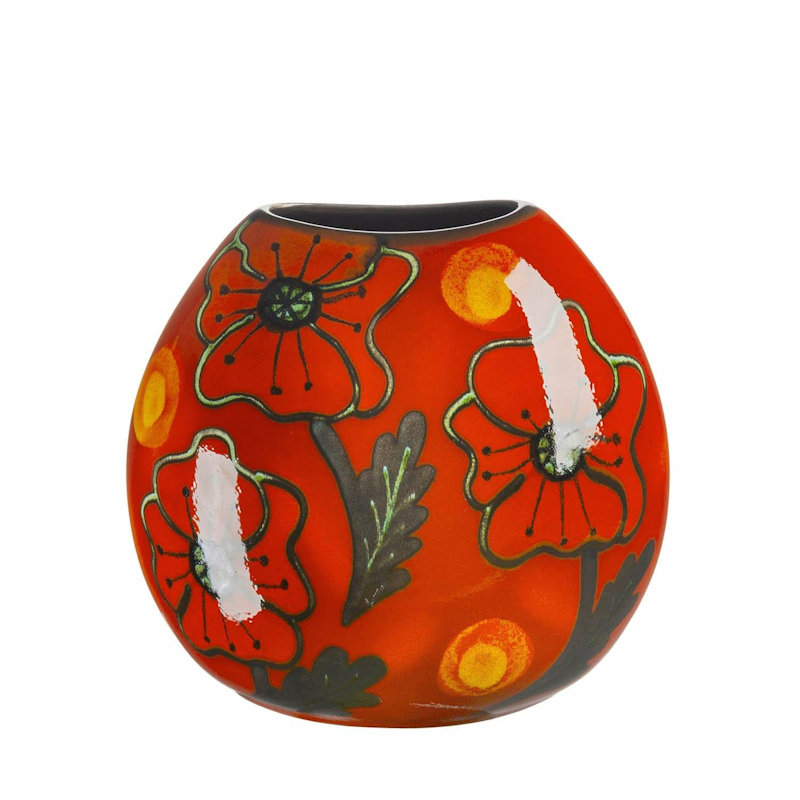 Poole Pottery Poppyfield Purse Vase 20cm