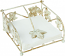 Wine Leaf Antique Cream Cocktail Napkin Holder