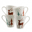 Aynsley Christmas 4 Reindeer Mugs Boxed