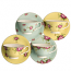 Aynsley Archive Rose Teacups & Saucers Set of 4