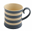 Fairmont & Main Kitchen Stripe Blue Tankard Mug - 300cc