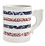 Burleigh Blue / Red Calico Hooped Mug