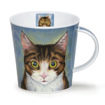 Dunoon Rogues Gallery - Tabby Cat Cairngorm Shape Mug Boxed