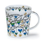 Dunoon Lomond Shape - Tree of Hearts Blue Mug Boxed