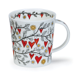 Dunoon Lomond Shape - Tree of Hearts Red Mug Boxed