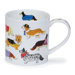 Dunoon Orkney Shape Mug - Dashing Dogs Corgi - Gift Boxed