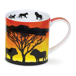 Dunoon Orkney Shape Mug - Savannah Lion - Gift Boxed