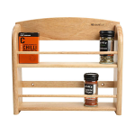 T&G - Scimitar 12 Jar Wall Spice Rack In Hevea