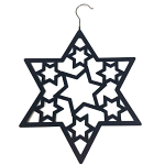 Scarf Hanger - Black Star