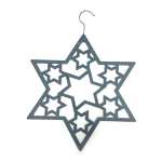 Scarf Hanger - Grey Star