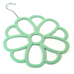 Scarf Hanger - Large Mint Green Flower