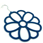Scarf Hanger - Navy Blue Flower