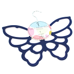 Scarf Hanger - Navy Blue Butterfly