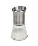 T&G - Tip Top Salt Mill with Stainless Steel Top & Glass Base