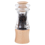 T&G - Classic Pepper Mill In Clear Acrylic & FSC Beech 15cm