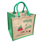 Jute Shopping Bag - Camping is Great