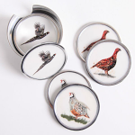 Meg Hawkins Game Bird 6 Coasters 9cm