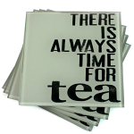 Tea Glass Coasters - Set of 4