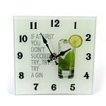 Gin Glass Clock