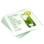Gin Glass Coasters - Set of 4