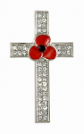 Poppy Brooch - Cross